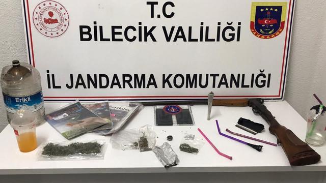 Bilecikte uyuşturucu şüphelisi yakalandı