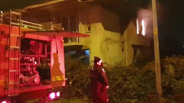 Bursada metruk binada yangın