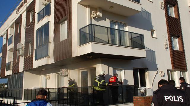 Didimdeki yangında bir ev kullanılamaz hale geldi