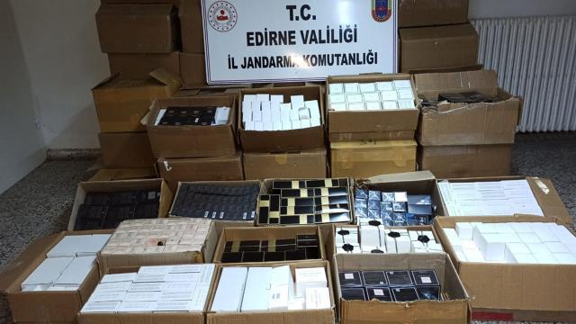 Edirnede 5 bin 164 kaçak parfüm ele geçirildi