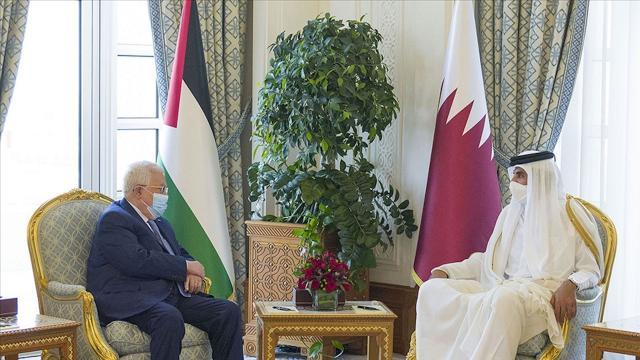 Katar Emiri ve Mahmud Abbas Filistindeki gelişmeleri görüştü