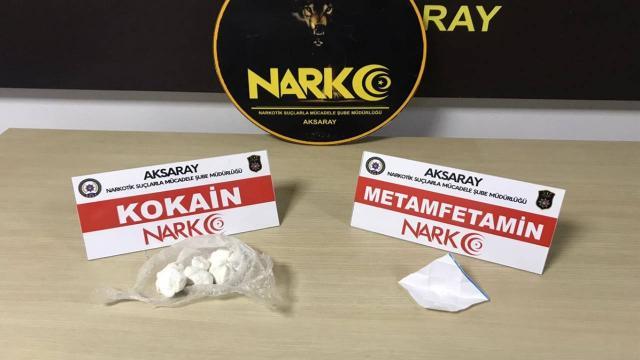 Aksarayda uyuşturucu satan 4 zanlı tutuklandı
