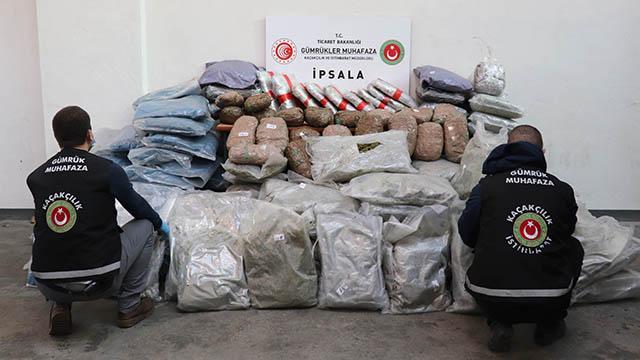 İpsala Gümrük Kapısında 257 kilogram esrar ele geçirildi