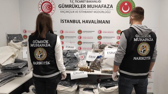 İstanbul Havalimanında 155 kilogram uyuşturucu ele geçirildi