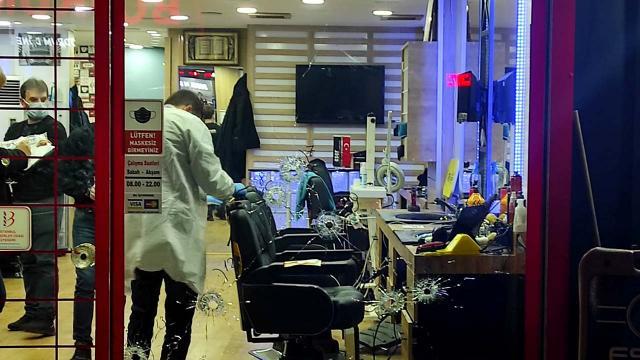 Güngörende berber dükkanına silahlı saldırı