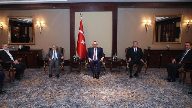Akar ve Çavuşoğlu, Kırım Tatar temsilcileriyle görüştü