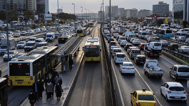 İstanbulda trafik yoğunluğu... 18 Aralık 2020 İstanbul trafik durumu...