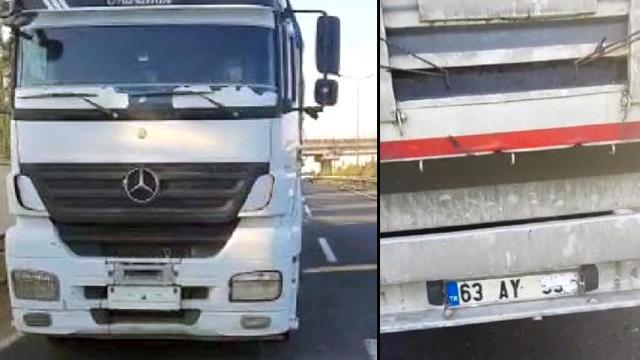 Plakanın okunmaması için düzenek kuran tır şoförüne ceza