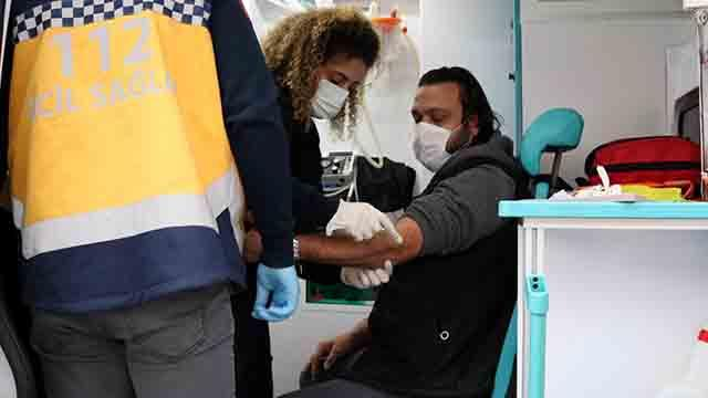 Sobadan sızan gazdan etkilenen 5 kişi hastaneye kaldırıldı