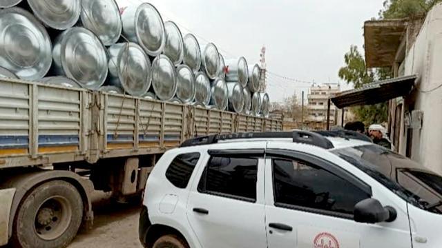 Türkiyeden Barış Pınarı Harekatı bölgesine su deposu desteği