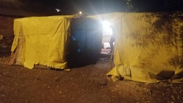 Tekirdağda çadırda kumar oynayan 12 kişiye suçüstü