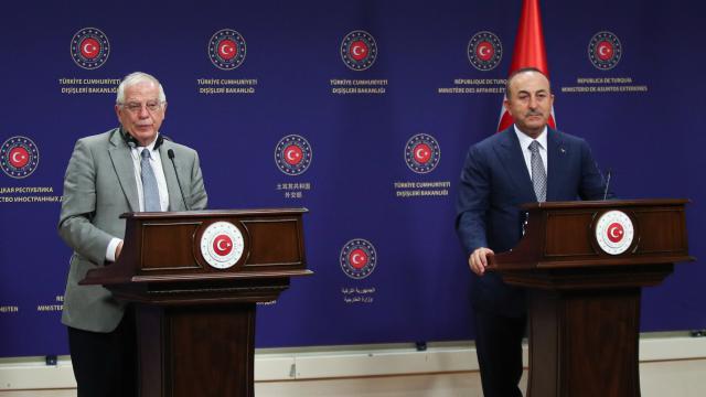 Bakan Çavuşoğlu, AB Yüksek Temsilcisi Borrell ile görüştü