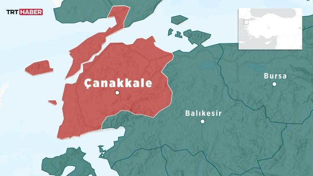 Çanakkalede 4 büyüklüğünde deprem