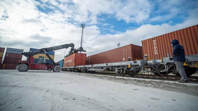 Çine gidecek ikinci ihracat yük treni de yola çıktı