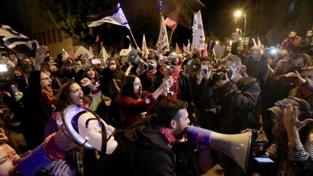 İsrailde Netanyahu karşıtı gösteriler devam ediyor