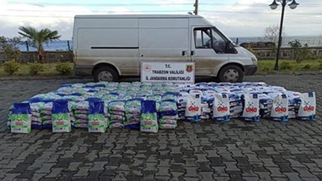 Trabzonda 4 ton sahte deterjan ele geçirildi