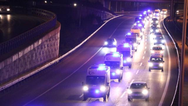 Ankaradan İstanbula 61 ambulans
