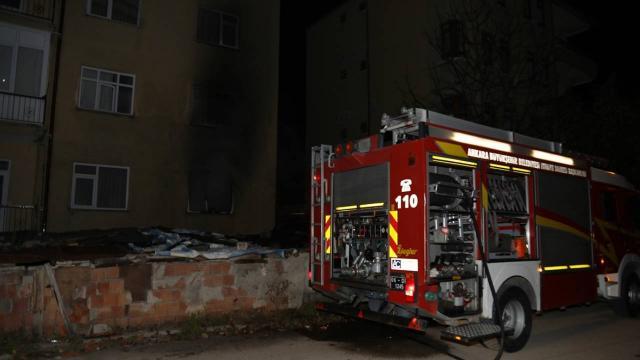 Ankarada yangın çıkan evde hasar oluştu