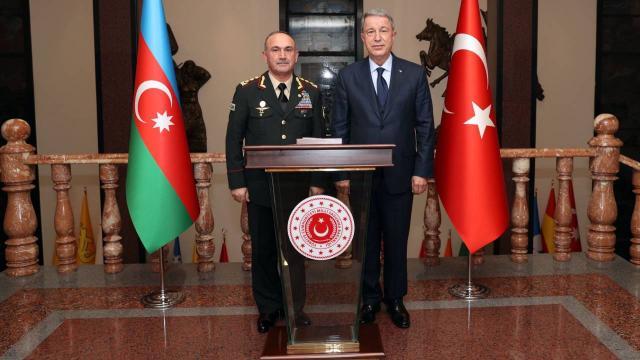 Bakan Akar, Azerbaycan Savunma Bakan Yardımcısını kabul etti