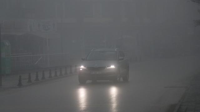 Düzce ve Boluda yoğun sis etkili oluyor