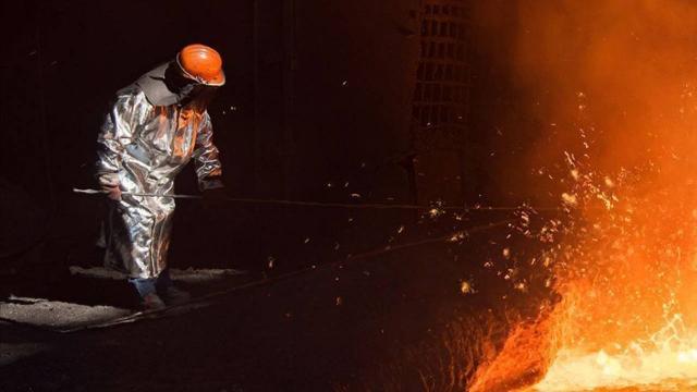 Türkiyenin ham çelik üretimi ocakta yüzde 12,7 arttı