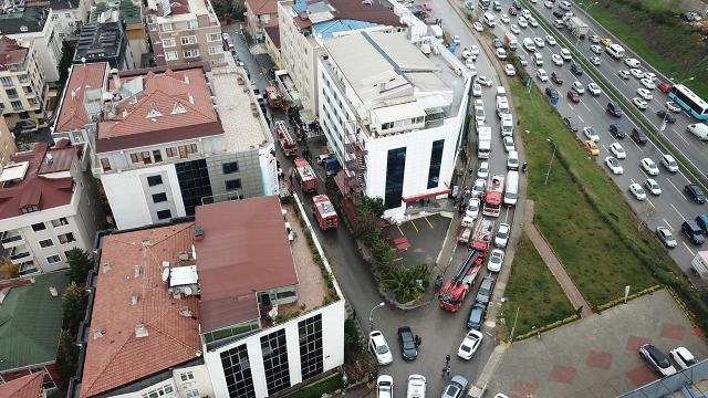 İstanbulda hastane yangını