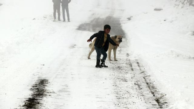 Iğdırın dağ köylerinde kış zorlu geçiyor