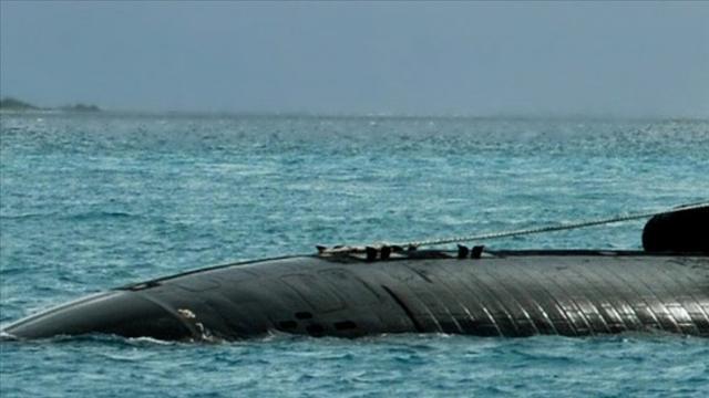 ABD denizaltısı Pasifikte korkulu anlar yaşadı