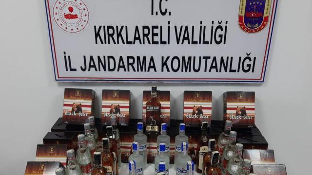 Kırklarelinde 181 litre kaçak içki ele geçirildi