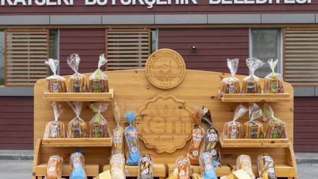 """Kayseride ata tohumu """"gacer"""" buğdayından üretilen ekmek satışa çıktı"""