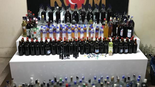Bursada 210 litre sahte içki ele geçirildi