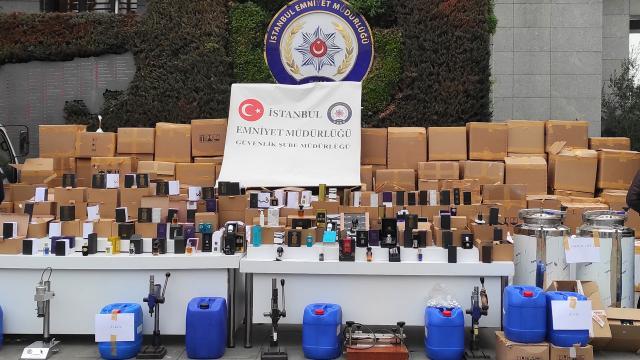 71 milyon liralık sahte parfüm ele geçirildi