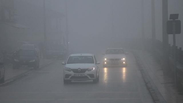 Düzce ve Boluda yoğun sis