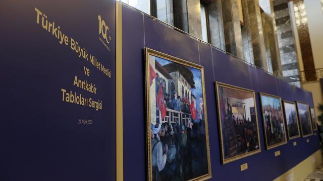 TBMM ve Anıtkabir Tabloları Sergisi açıldı