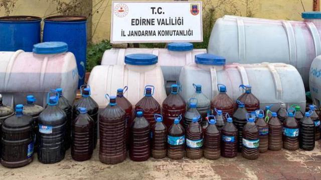 Tekirdağ ve Edirnede sahte içki operasyonları: 3 gözaltı