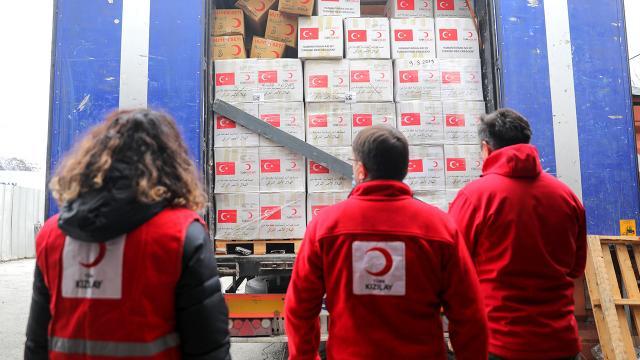 Türk Kızılayın yardım tırları Saraybosnaya ulaştı