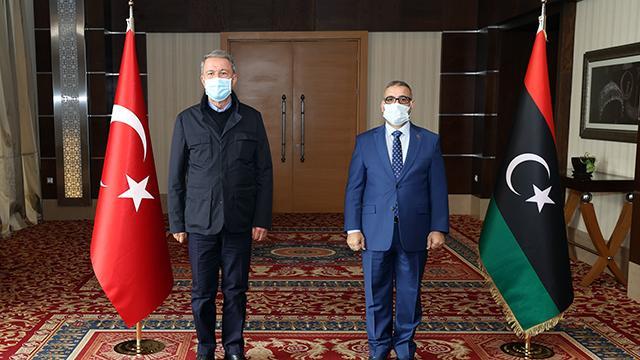 Bakan Akar, Libya Yüksek Devlet Konseyi Başkanı Meşri ile görüştü