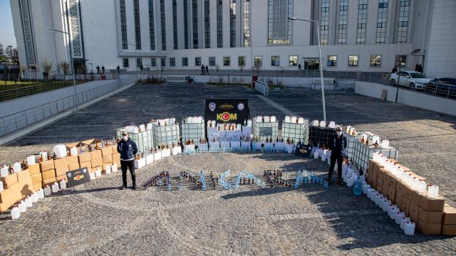 Başkent merkezli sahte içki operasyonu: 30 gözaltı