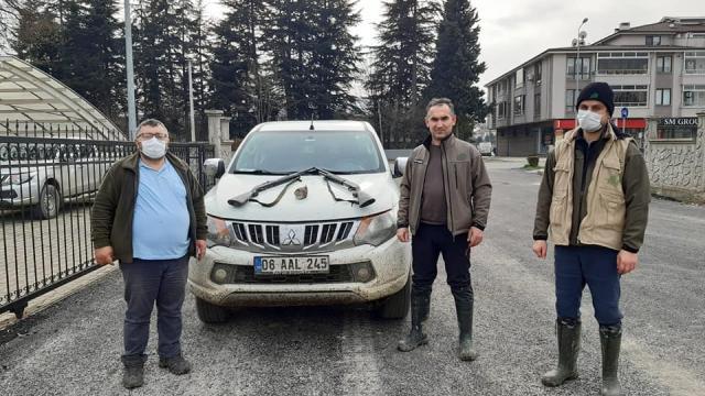 Düzcede yasa dışı avlanan 11 kişiye para cezası