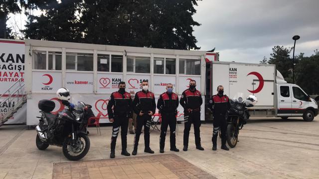 Bigada emniyet mensuplarından kan bağışı kampanyasına destek