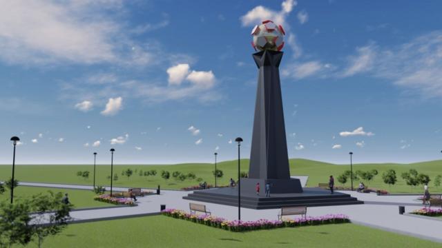 Samsunspor Anıtı Millet Bahçesine yerleştiriliyor