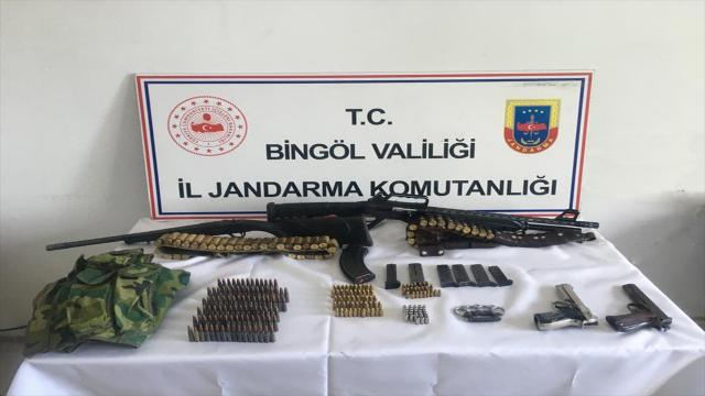 Bingölde silah ve mühimmat ele geçirildi