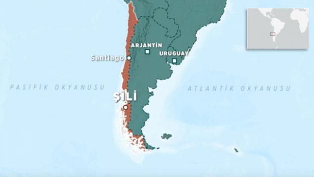 Şilide 6,8 büyüklüğünde deprem