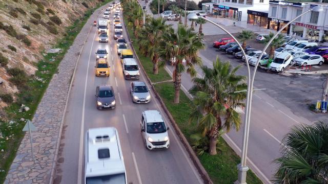 Bodrum trafiğinde yılbaşı hareketliliği