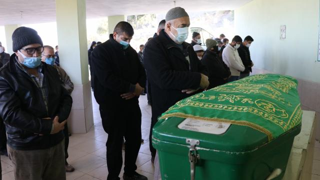 Afrin görevi dönüşünde kazada yaşamını yitiren sağlıkçı son yolculuğa uğurlandı