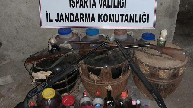 Ispartada sahte içki operasyonu