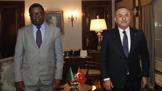 Bakan Çavuşoğlu, Zambiyalı mevkidaşıyla görüştü