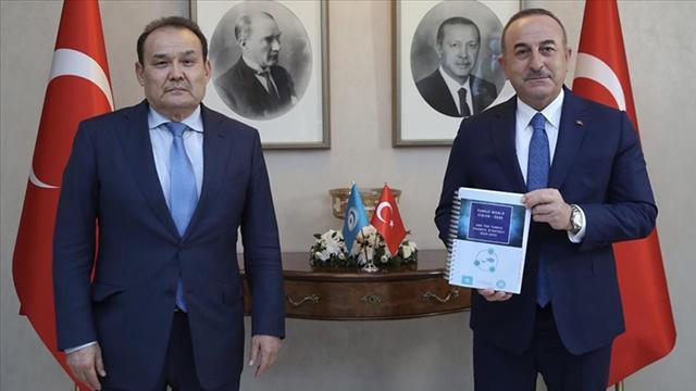 Bakan Çavuşoğlu, Türk Konseyi Genel Sekreteri Amreyev ile görüştü