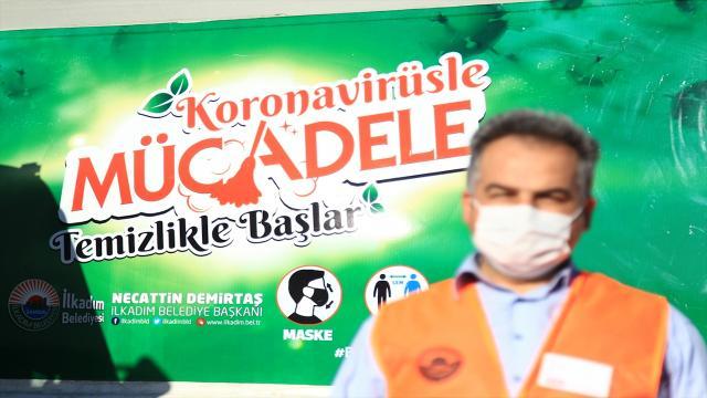 Samsunda belediye araçlarına farkındalık sloganları