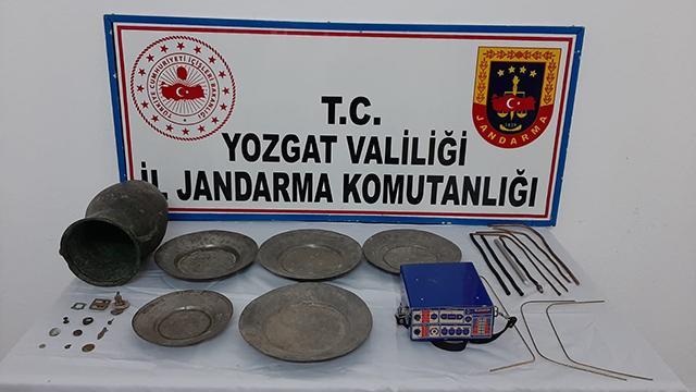 Yozgatta tarihi eser operasyonunda 3 gözaltı